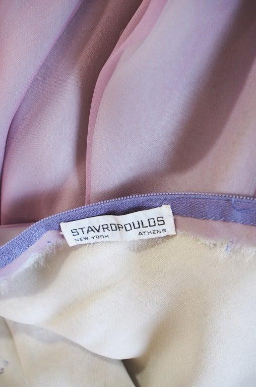 1970s Stavropoulos Hand Beaded Bias Cut Silk Chiiffon Dress 10