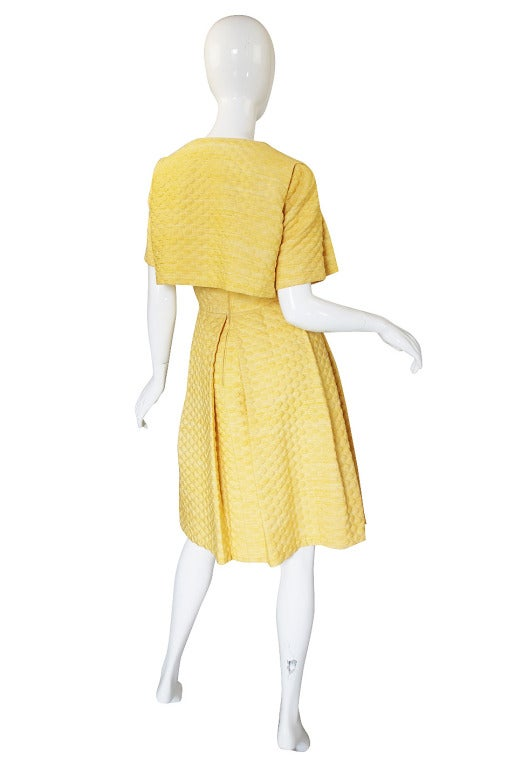 Late 1950s Pauline Trigere Silk Dress And Jacket At 1stdibs
