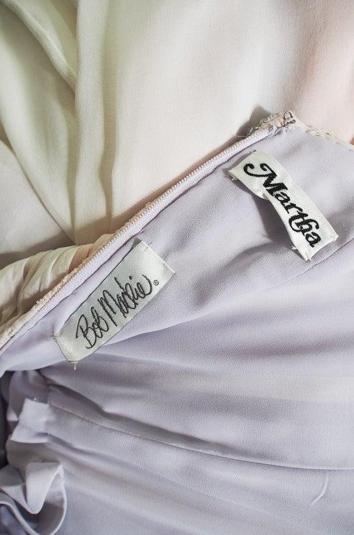 1970s Bob Mackie Pastel & Beaded Silk Gown 10