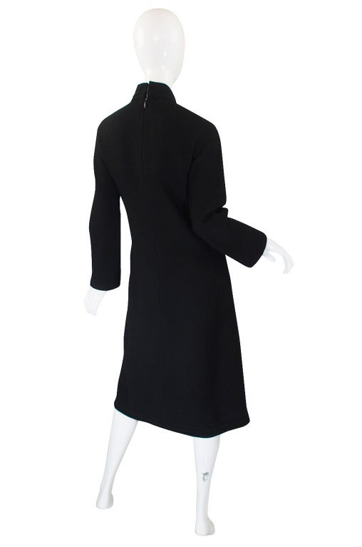 1960s Chic Sculpted Pierre Cardin Dress 2