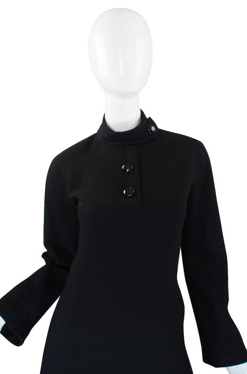 1960s Chic Sculpted Pierre Cardin Dress 3