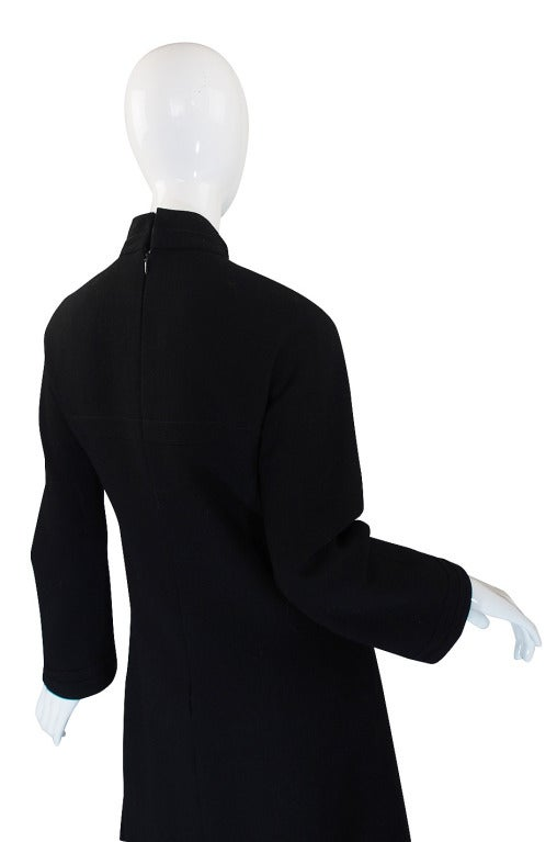 1960s Chic Sculpted Pierre Cardin Dress 5