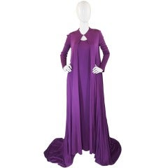 1971 Couture Halston Jersey Gown & Coat