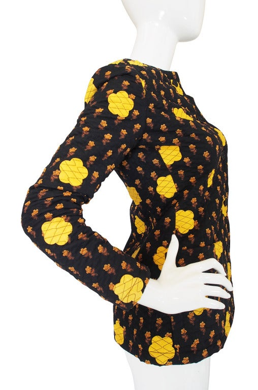 1970s Givenchy Felt Applique Jacket At 1stdibs