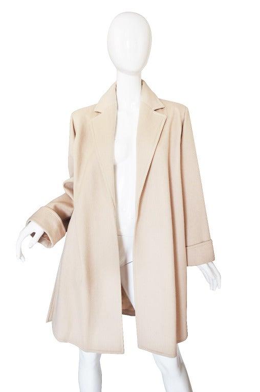 1970s Yves Saint Laurent Cream Coat 3