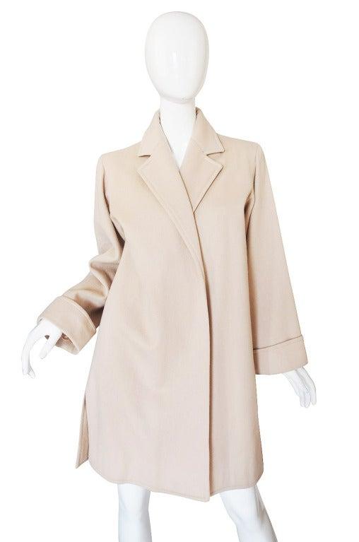 1970s Yves Saint Laurent Cream Coat 4