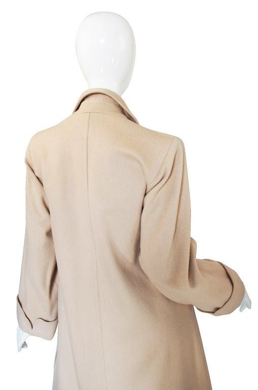 1970s Yves Saint Laurent Cream Coat 6