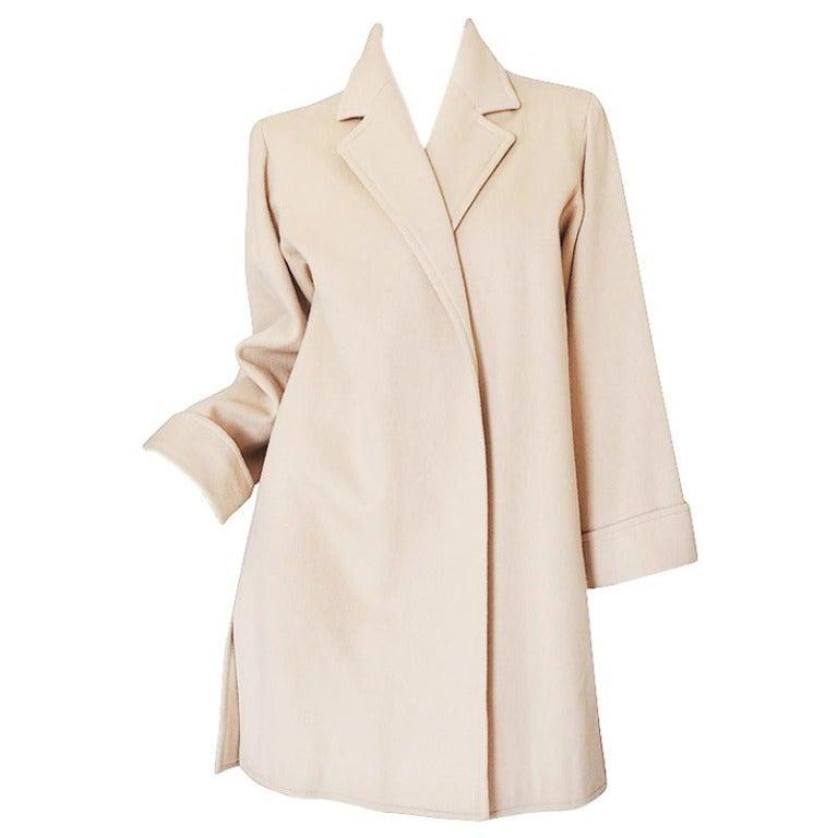 1970s Yves Saint Laurent Cream Coat 1