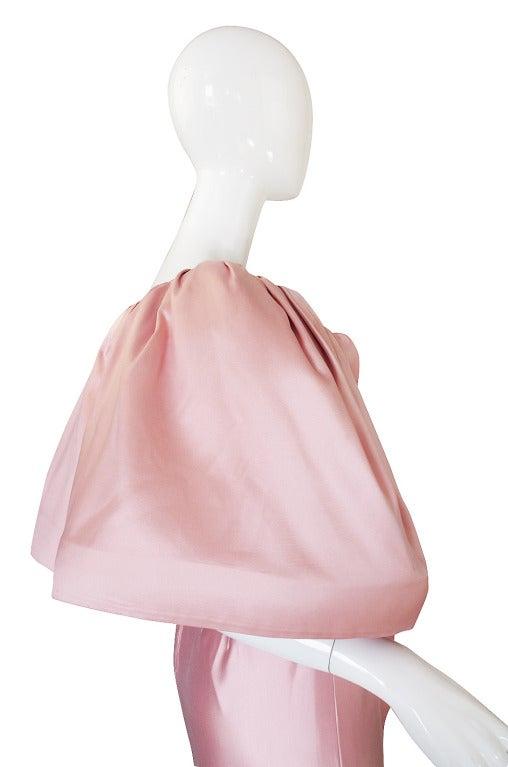 1980s Larger Caped Silk Oscar De La Renta Gown For Sale 1