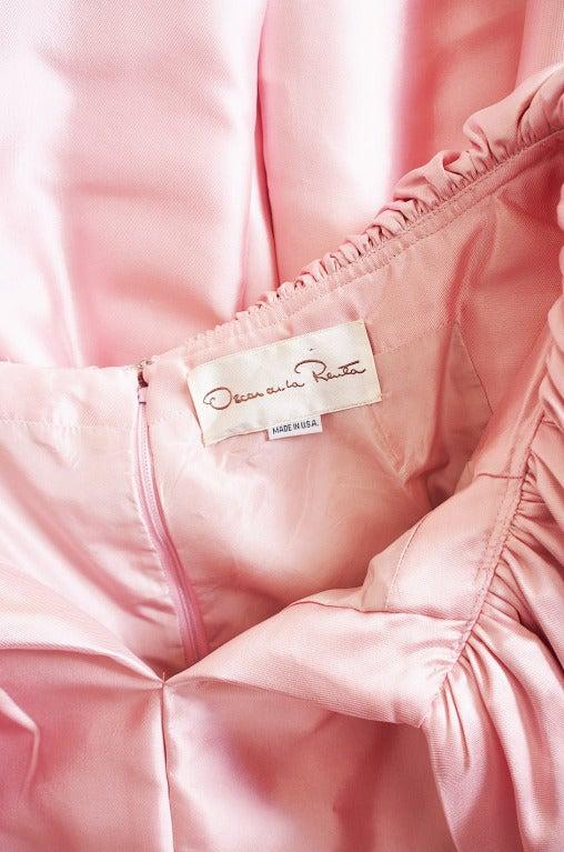 1980s Larger Caped Silk Oscar De La Renta Gown For Sale 2