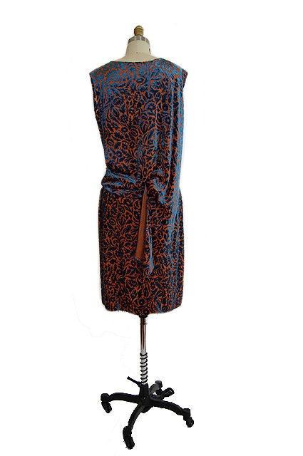 1920s Silk Devore Flapper Dress 2