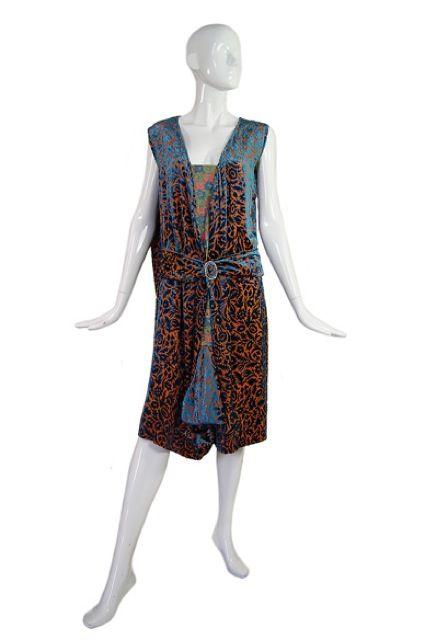 1920s Silk Devore Flapper Dress 3