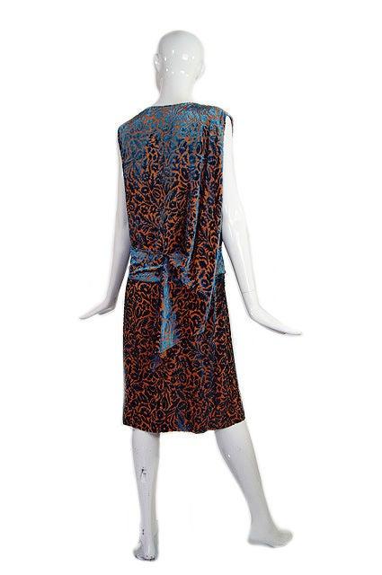 1920s Silk Devore Flapper Dress 4