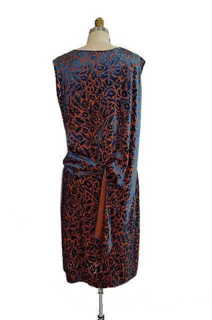 1920s Silk Devore Flapper Dress 8