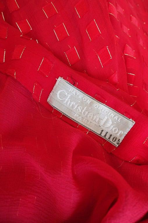 1978 Numbered Dior Patron Original Silk Dress Set 9
