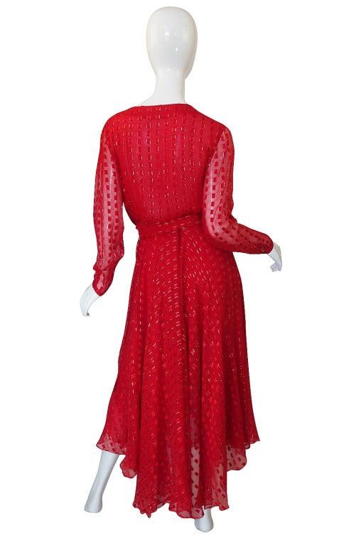1978 Numbered Dior Patron Original Silk Dress Set 2