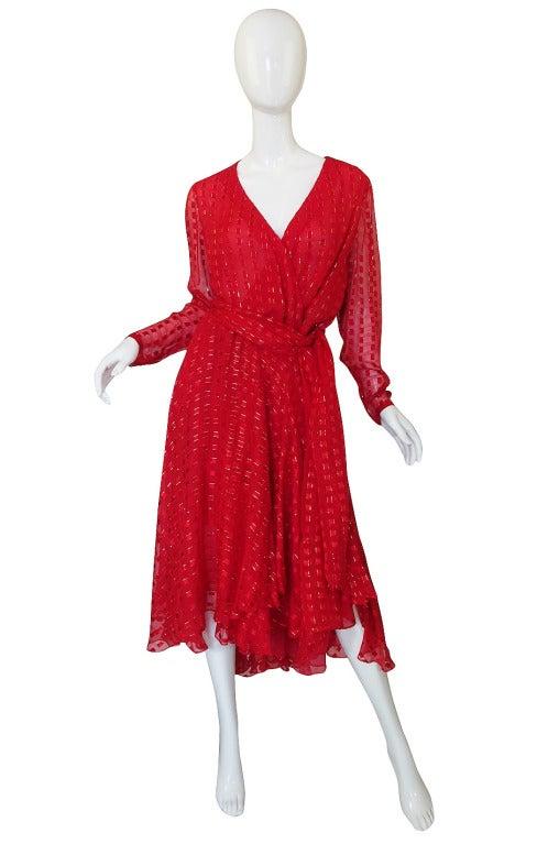 1978 Numbered Dior Patron Original Silk Dress Set 3
