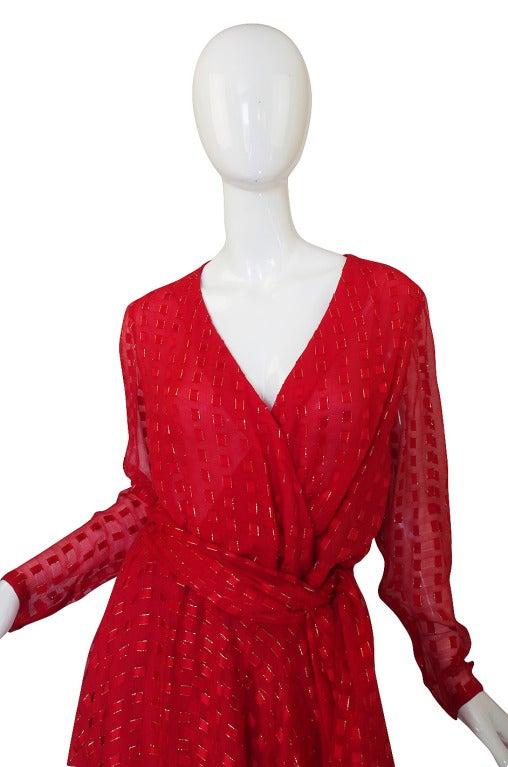 1978 Numbered Dior Patron Original Silk Dress Set 4