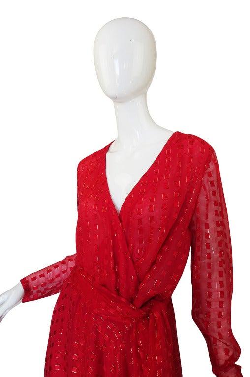 1978 Numbered Dior Patron Original Silk Dress Set 5