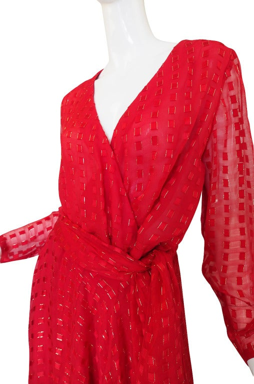 1978 Numbered Dior Patron Original Silk Dress Set 6