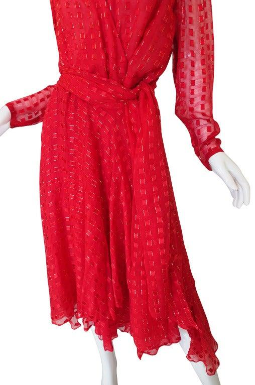 1978 Numbered Dior Patron Original Silk Dress Set 8