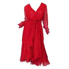 1978 Numbered Dior Patron Original Silk Dress Set