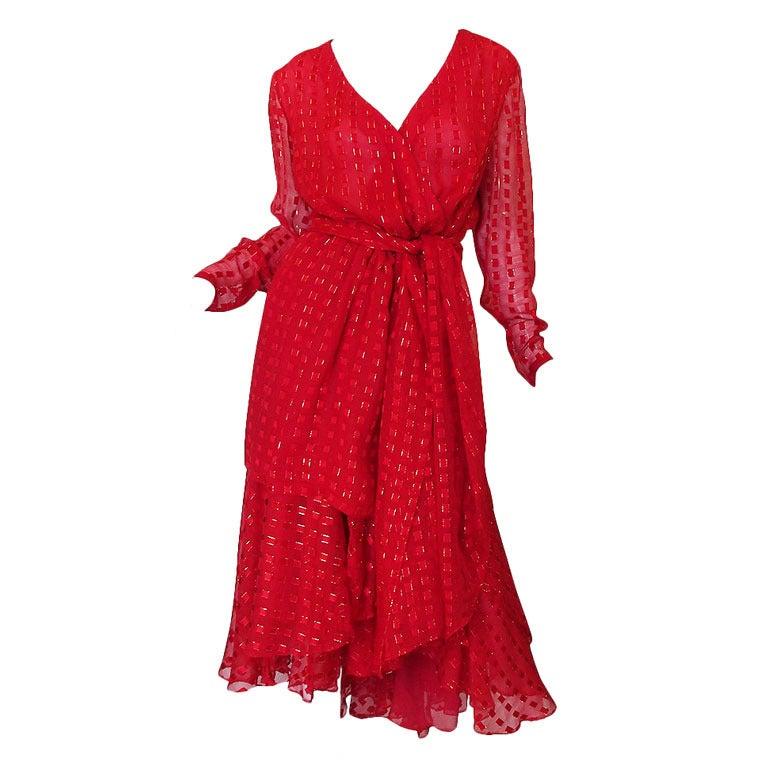 1978 Numbered Dior Patron Original Silk Dress Set 1