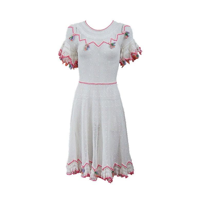 1940s Crochet Swing Dress 1