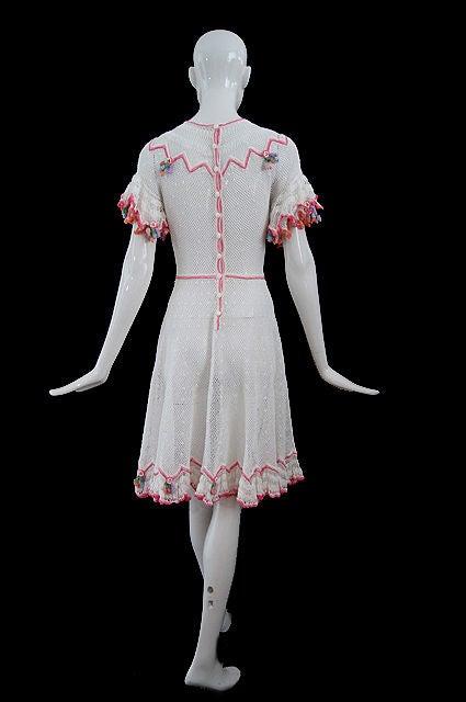 1940s Crochet Swing Dress 2