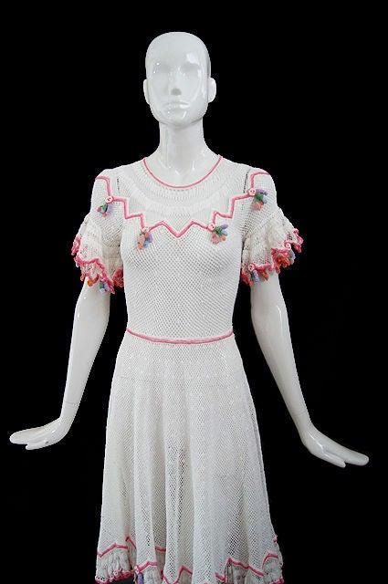 1940s Crochet Swing Dress 3