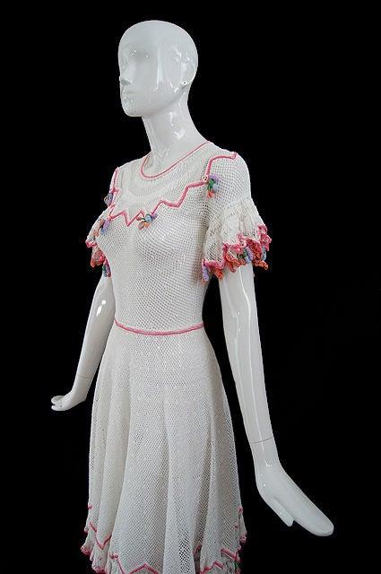 1940s Crochet Swing Dress 4