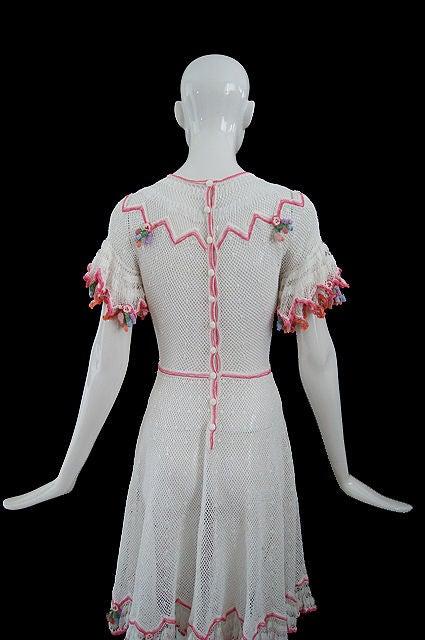 1940s Crochet Swing Dress 5