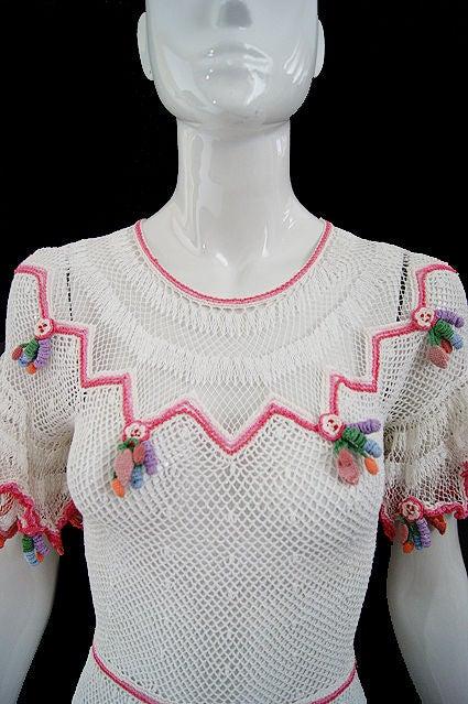 1940s Crochet Swing Dress 6