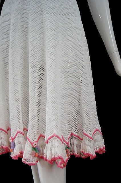 1940s Crochet Swing Dress 8