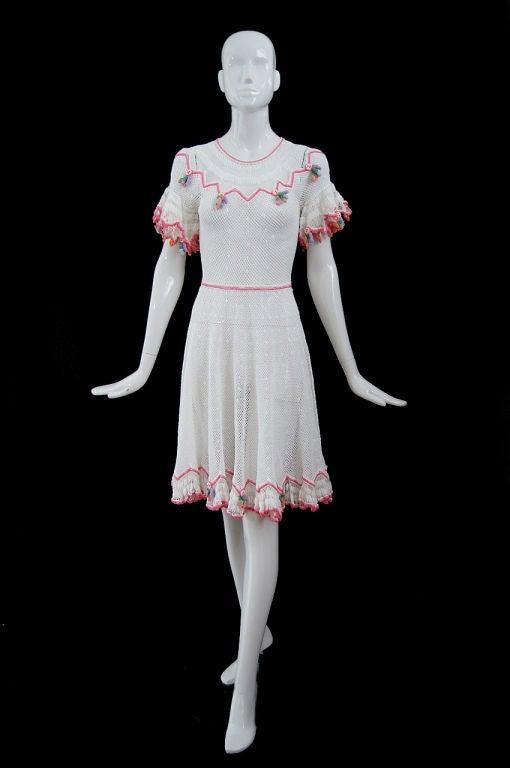 1940s Crochet Swing Dress 9