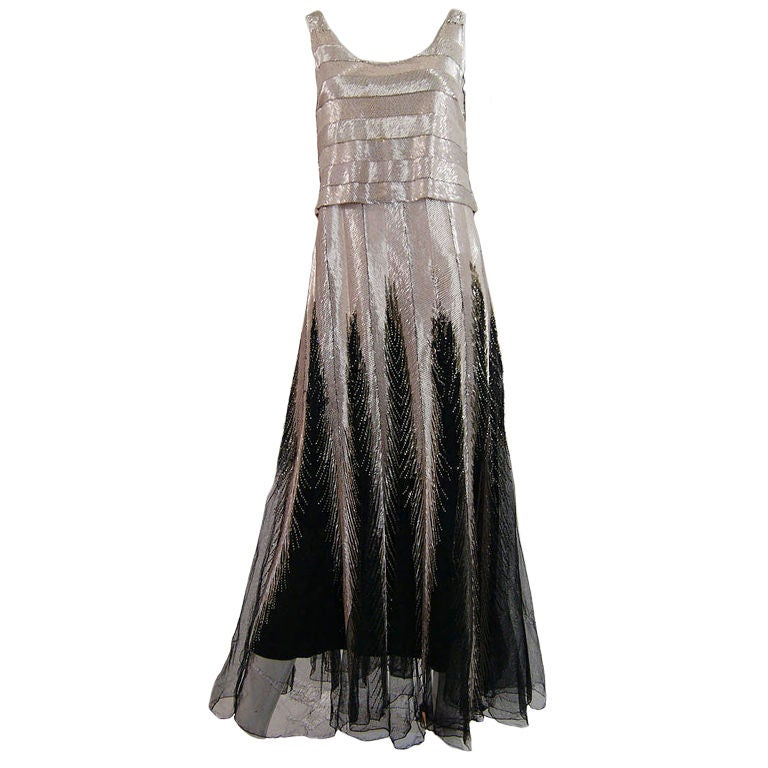 Numbered Couture 1920s Jeanne Paquin Gown 1