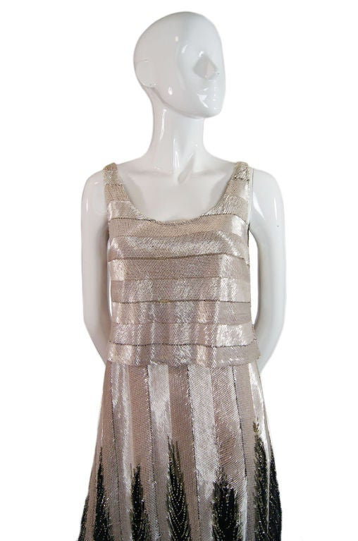 Numbered Couture 1920s Jeanne Paquin Gown 3