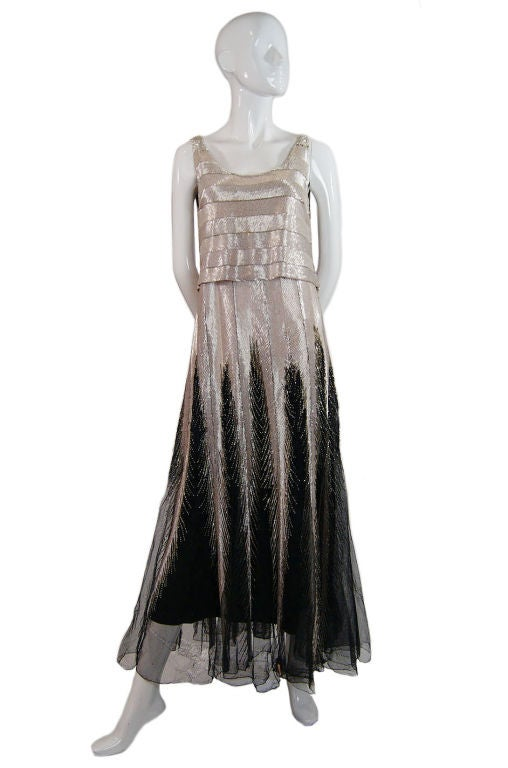 Numbered Couture 1920s Jeanne Paquin Gown 5