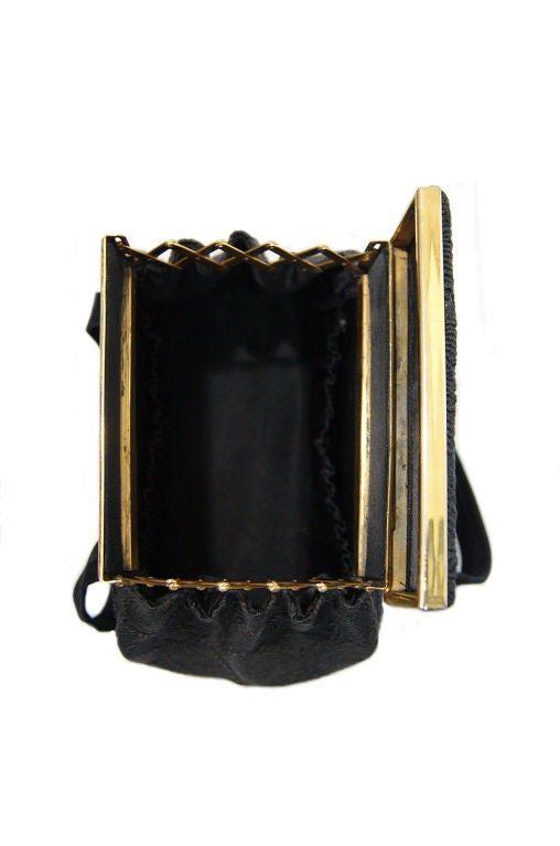 1940s Brass Accordian Cord Bag 6
