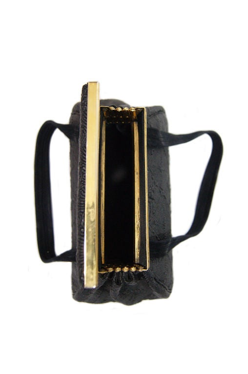 1940s Brass Accordian Cord Bag 7