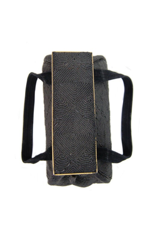 1940s Brass Accordian Cord Bag 8