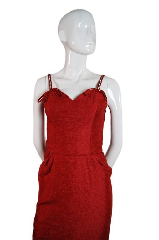 Spectacular 1940s Lilli Ann Wiggle Dress image 3
