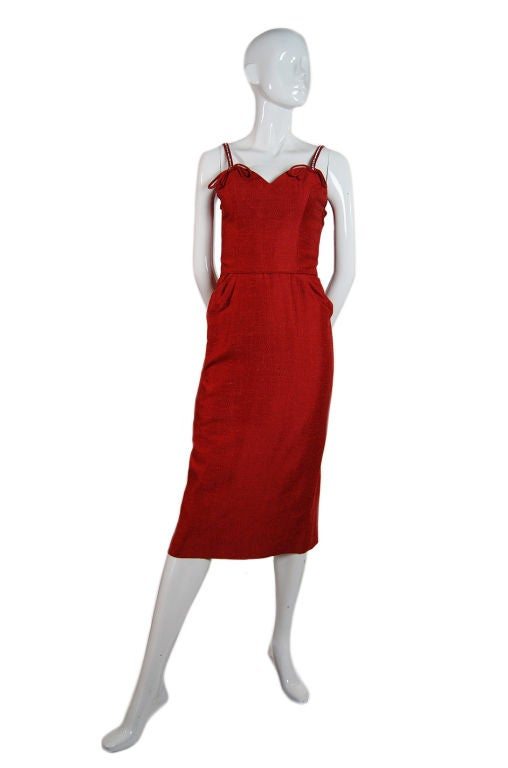 Spectacular 1940s Lilli Ann Wiggle Dress image 9