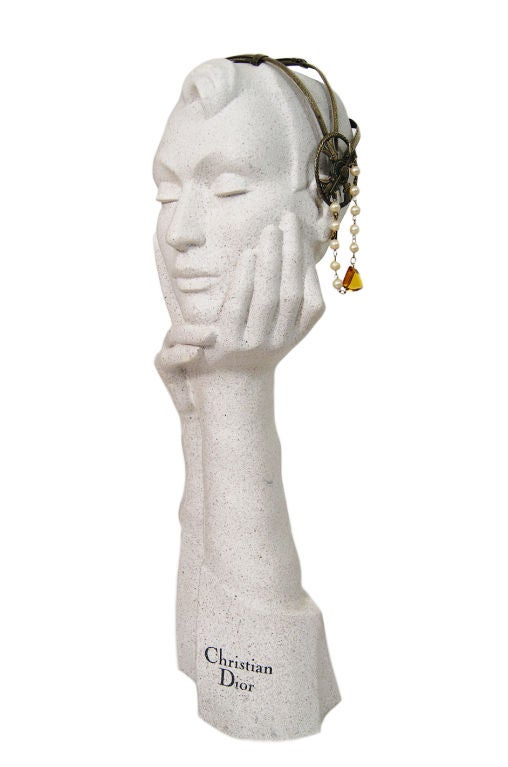 1920s Brass Tone Flapper Head Piece 3