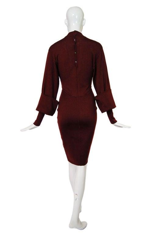 1990s Amazing Sleeved Alaia Knit Dress 2