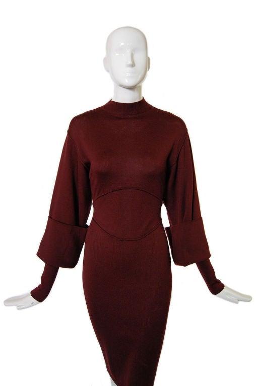1990s Amazing Sleeved Alaia Knit Dress 3
