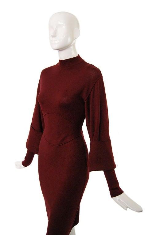 1990s Amazing Sleeved Alaia Knit Dress 4