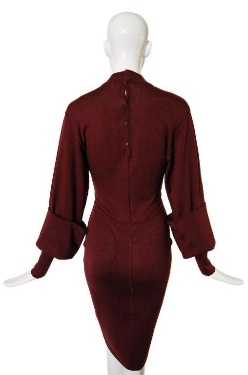 1990s Amazing Sleeved Alaia Knit Dress 5