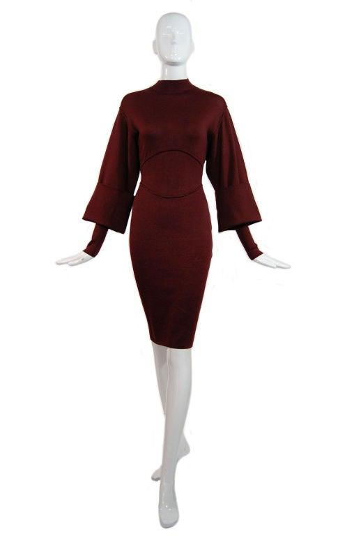 1990s Amazing Sleeved Alaia Knit Dress 8