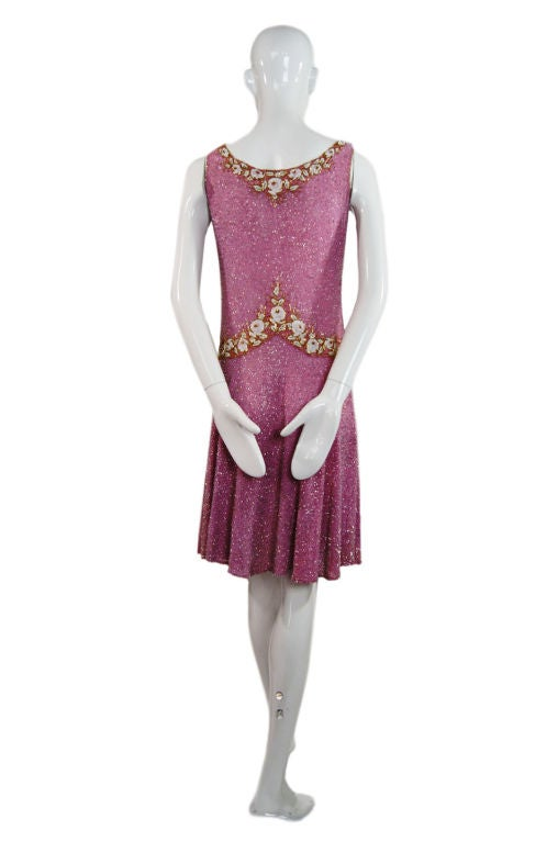1920s French Label Fully Beaded Flapper Dress 4